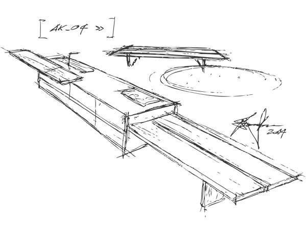 Dibujo de una cocina de calidad y moderna